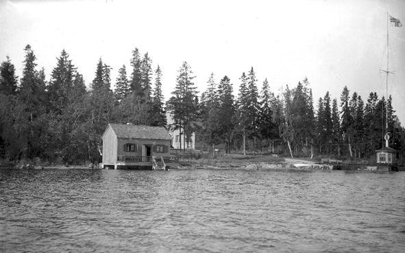Saunarakennus vuonna 1928